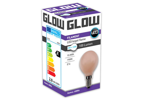GLOW LED FLAME KOGEL 2W-10W E14 G45 100LM ND