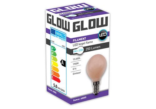 GLOW LED FLAME KOGEL 5W-25W E14 G45 250LM DIMBAAR