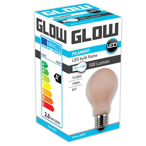 GLOW LED FLAME NORMAAL 2W-10W E27 A60 100LM ND