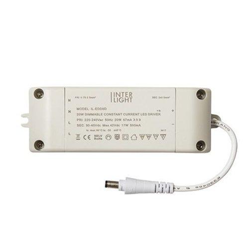 LED EasyFit Downlight Driver Dimbaar 20W 230V/500mA