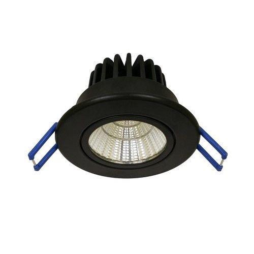 The Solution LED Inbouwspot Kantelbaar Zwart