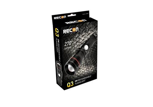 RECON Q3 LED OPLAADBARE ZAKLAMP 5W MINI