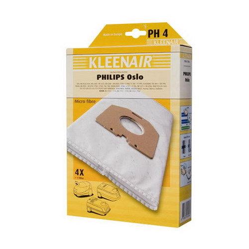 Kleenair STOFZUIGERZAK PHILIPS OSLO PH-4 4STUKS+1FILTER
