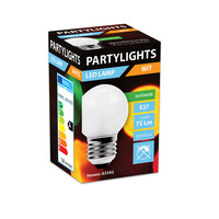 thumb-LED PARTYLIGHT KOGEL 1W E27 WIT - IN & OUTDOOR-2
