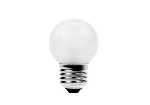 GLOW LED PARTYLIGHT KOGEL 1W E27 WIT - IN & OUTDOOR