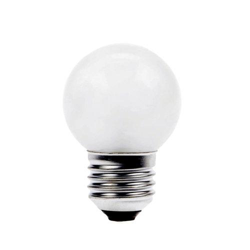 GLOW LED Partylights Kogel 1W E27 wit - in & outdoor