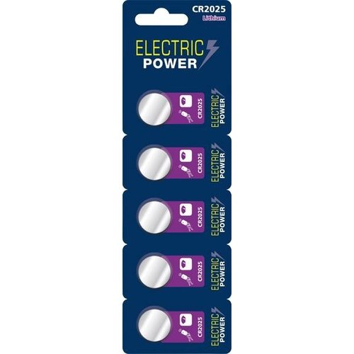 Electric Power CR2025 3V 5-pack