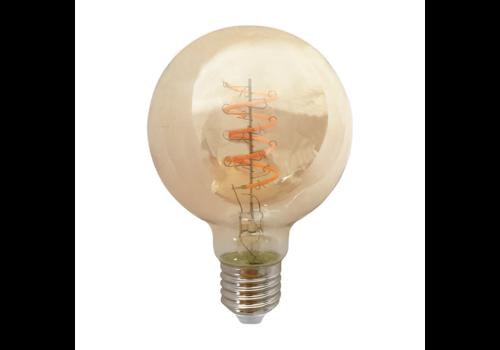 Blinq88 LED Globe Ø 80mm - 4W  - Filament lamp Dimbaar Amber