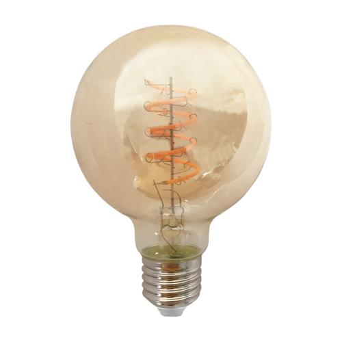 Blinq LED Globe Ø 80mm - 4W  - Filament lamp Dimbaar Amber