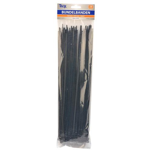 Tack Bundelbandje 4,8 x 350mm 100st zwart
