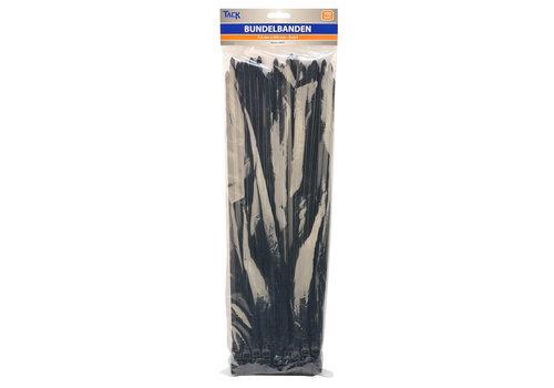 Tack Bundelbandje 7,5 x 400mm 100st zwart