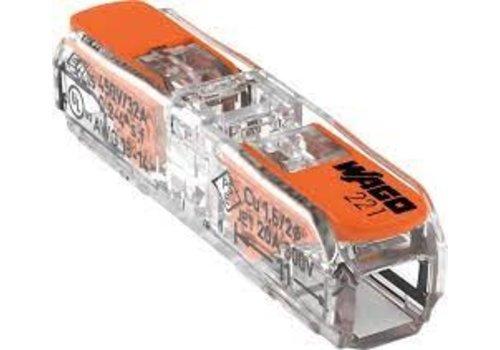 WAGO 1V doorvoer verbindingsklem +hendel 0,2 tot 4mm²