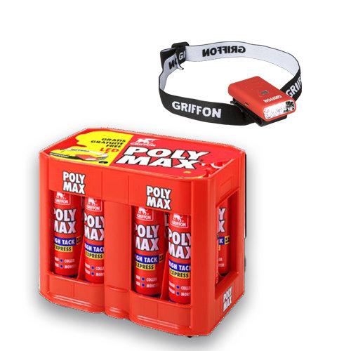 Griffon Krat 12x Poly Max High Tack Express wit + LED lamp