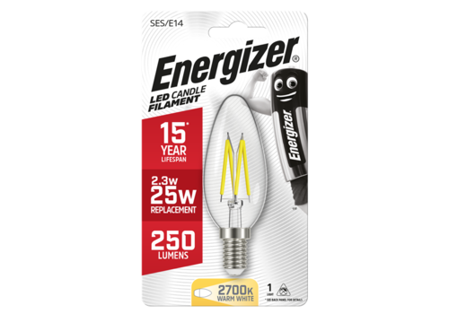 Energizer Kaars Filament 2,3W(25W)/E14 250LM S9028