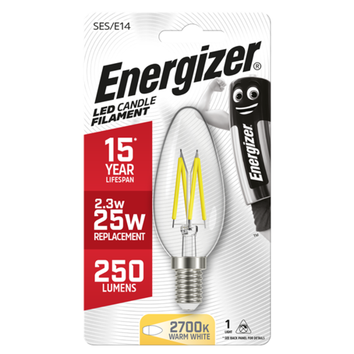 Energizer Kaars Filament E14 2,6W(=25W) 250LM
