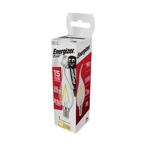 Energizer Kaars Filament TIP E14 2,6W(=25W) 250LM