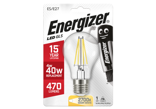 Energizer Normaal Filament 4W(40W)/E27 470LM S9024