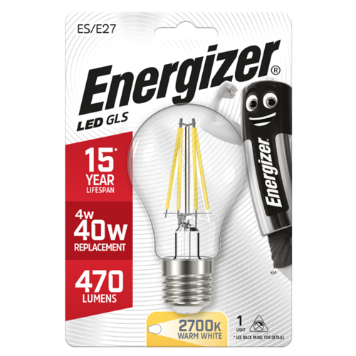 Energizer Normaal Filament E27 4,3W(=40W) 470LM