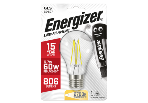 Energizer Normaal Filament 6,7W(60W)/E27 806LM S9026