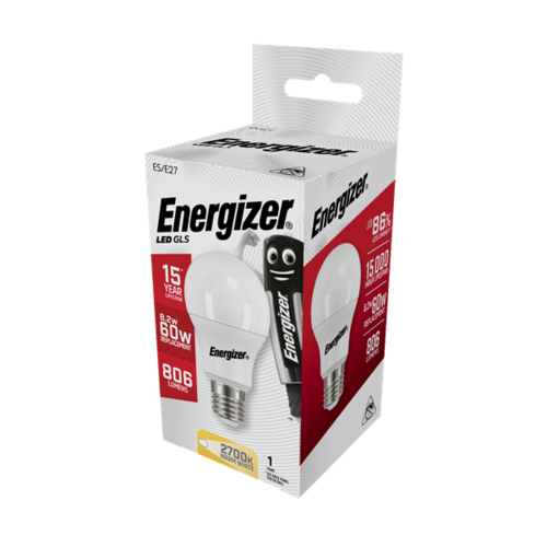 Energizer Normaal E27 9,2W(=60W) 806LM