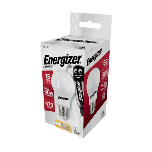 Energizer Normaal E27 5,6W(=40W) 470LM