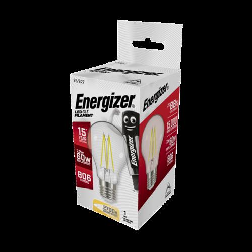 Energizer Normaal Filament E27 7,2W(=60W) 806LM DIMBAAR