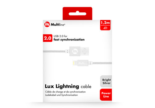 Multiline Lux Lightning Cable 1.2m Bright Silver