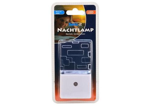 Sens-it LED NACHTLAMP 3000K + LICHT/DONKER SENSOR