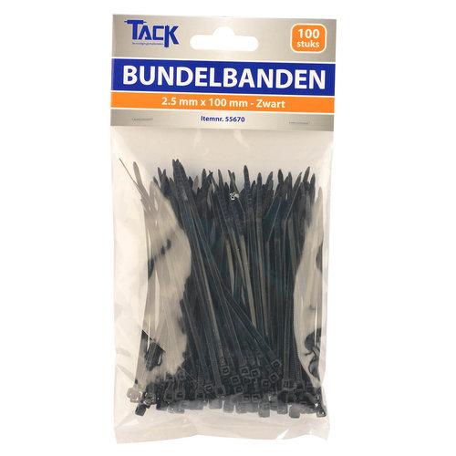 Tack Bundelbandje 2,5 x 100mm 100st zwart