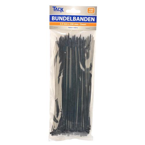 Tack Bundelbandje 2,5 x 200mm 100st zwart