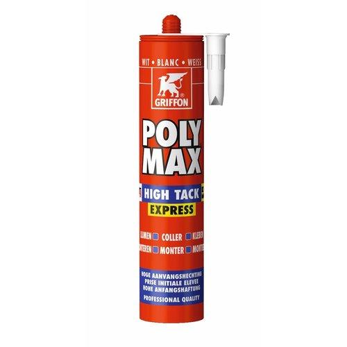 Griffon Poly Max High Tack Express - Koker 435 g Wit - kit