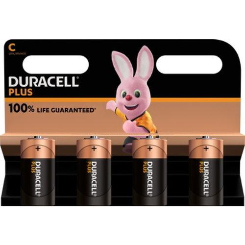 Duracell Plus Alkaline 100% C 4 pack (LR14)