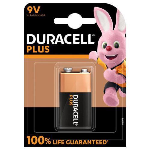 Duracell Plus Alkaline 100% 9V 1 pack (6LR61)