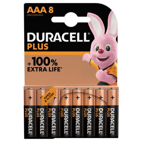 Duracell Plus Alkaline 100% AAA 8 pack (LR03)