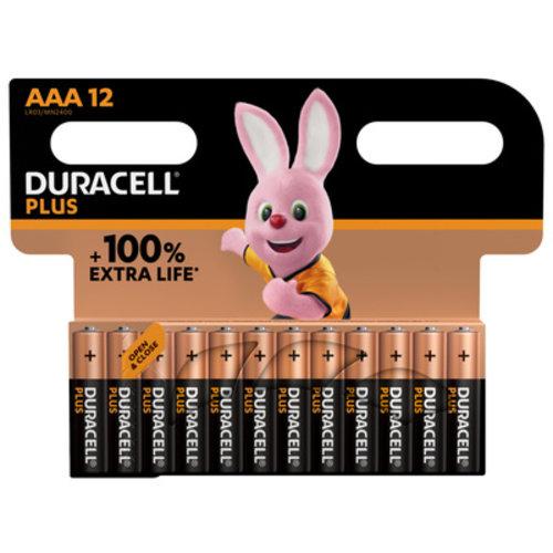Duracell Plus Alkaline 100% AAA 12 pack (LR03)