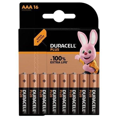 Duracell Plus Alkaline 100% AAA 16 pack (LR03)