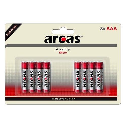 Arcas Alkaline AAA/LR03 blister 8