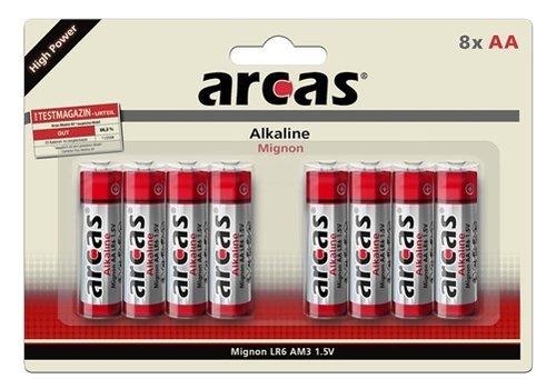 Arcas Alkaline AA/LR6 blister 8
