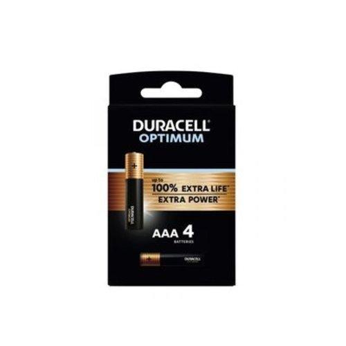 Duracell Optimum Alkaline AAA 4 pack (LR03)