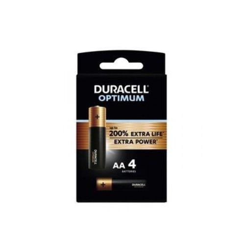 Duracell Optimum Alkaline AA 4 pack (LR6)