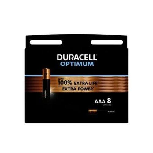Duracell Optimum Alkaline AAA 8 pack (LR03)