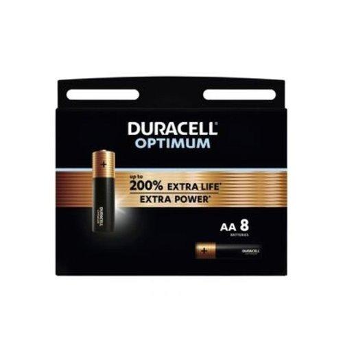 Duracell Optimum Alkaline AA 8 pack (LR6)