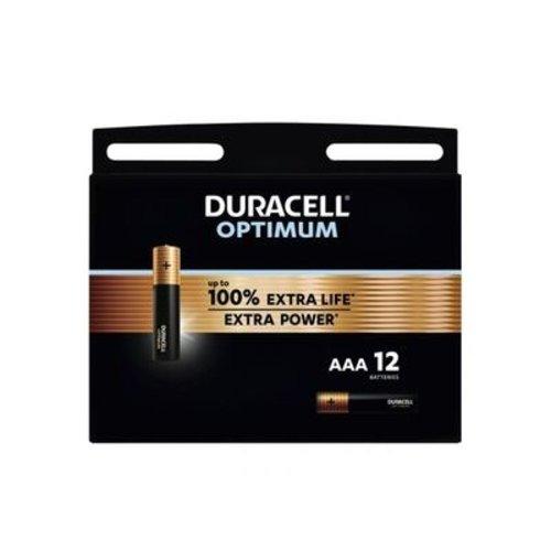 Duracell Optimum Alkaline AAA 12 pack (LR03)