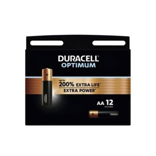 Duracell Optimum Alkaline AA 12 pack (LR6)