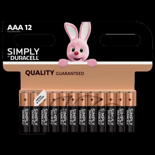 Duracell Simply/Basic AAA/LR03 blister 12