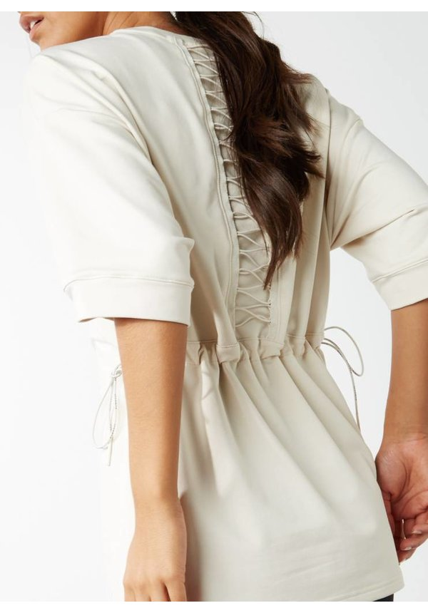Evolution sweatshirt met veterdetail