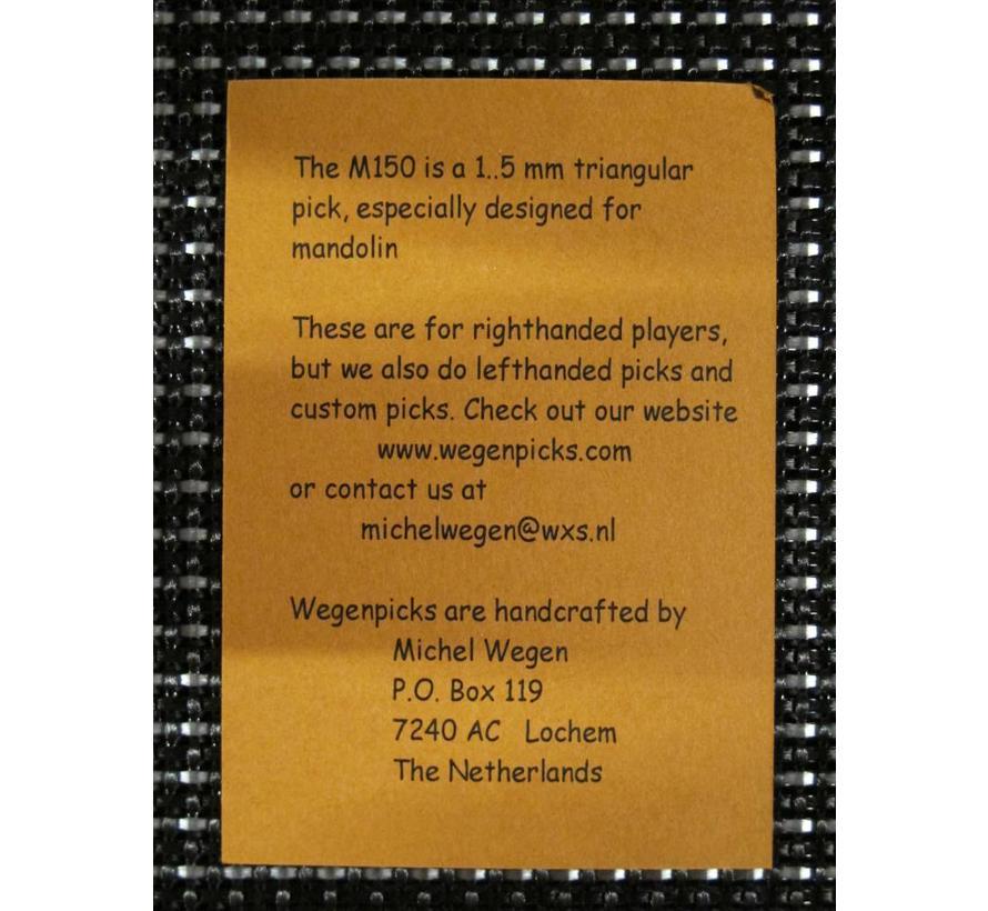 WEGEN PICKS 1.5mm M150 ZWART