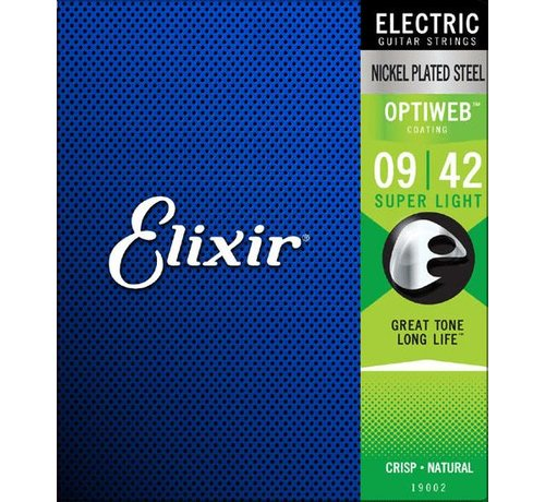 Elixir Elixir 19002 Electric Optiweb Super Light 9-42 snarenset