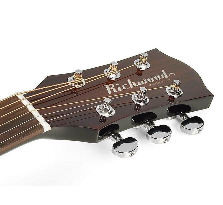 Richwood D-40-BK Master Series zwarte akoestische gitaar