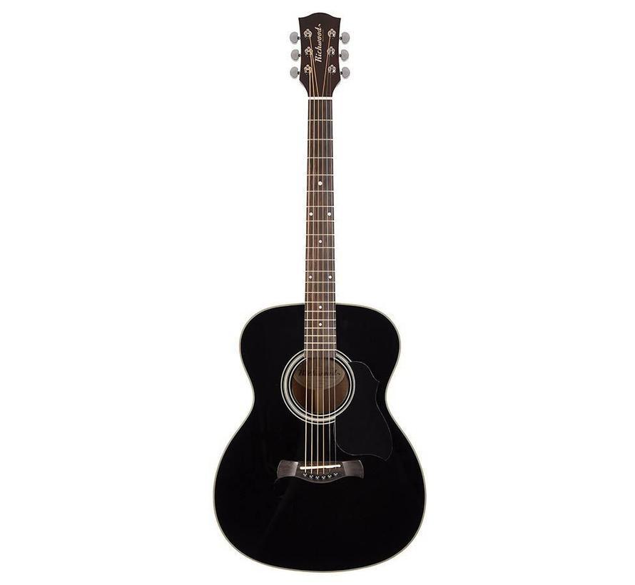 Richwood A-40-BK Grand Auditorium zwarte gitaar